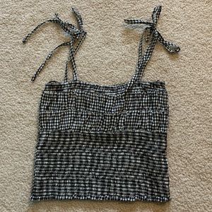 Stretchy Gingham Crop Top